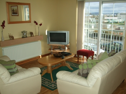 Living Area of Pearse House Apartment with views overlooking Letterkenny